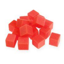 Våt skum mini-kube rød 300p