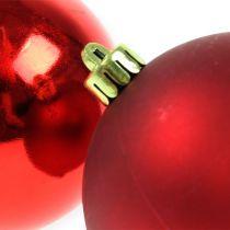 Julekule rød 10cm 4stk