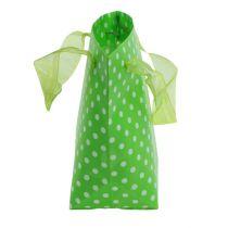 Bæreveske grønn, hvit 31cm 5stk