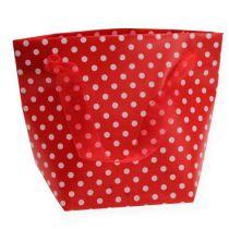 Gavepose rød, hvit 31cm 5stk