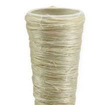Sisal spiss vase bleket Ø2,5cm L30cm 12stk
