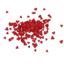 Dryss dekorasjonshjerter rød 5-8mm 1000p