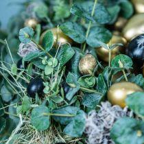 Vakteleggdekorasjon svart tom 3cm vårdekorasjon naturlig dekor 50p