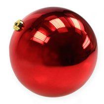 Julekule plast stor rød Ø25cm