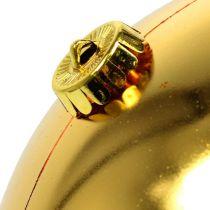 Julekule plast stort gull Ø25cm