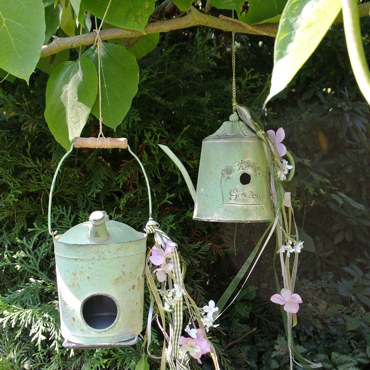 Fuglehusoljekanne antikkgrønn Ø16cm H20cm