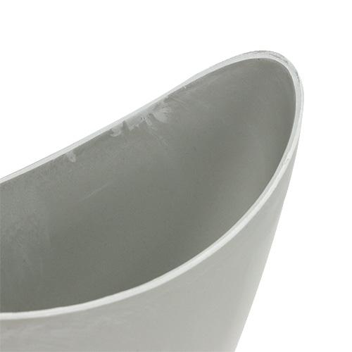 Dekorativ bolle plast grå 20cm x 9cm H11.5cm, 1p