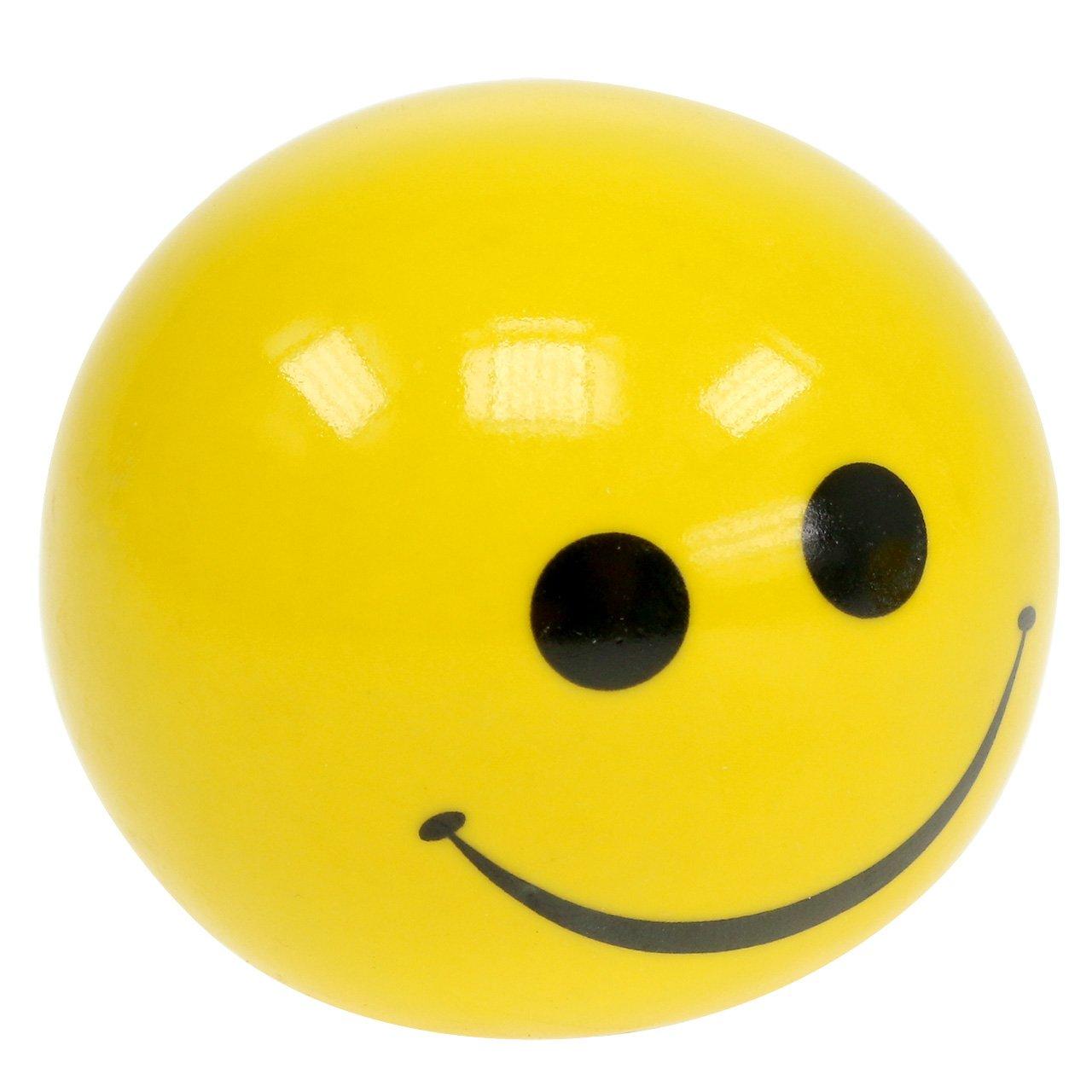 Keramisk kule med Smeili gul Ø5cm H4,5cm 6stk