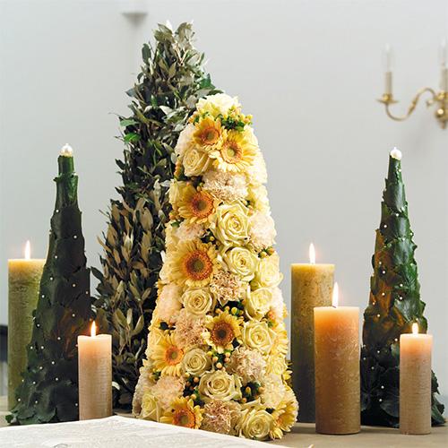 Blomsterskum i kjegleform H50cm Ø15cm 2stk