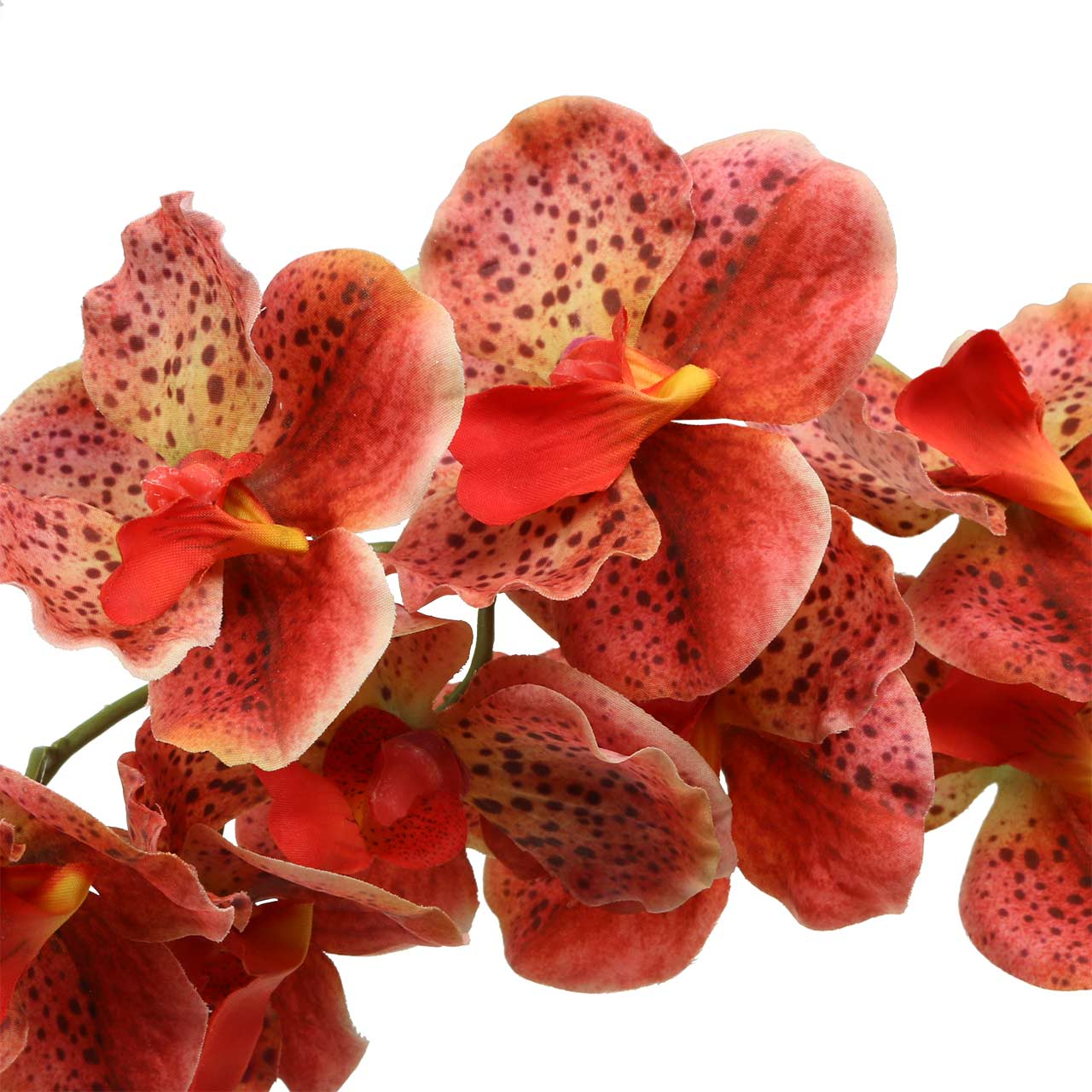 Kunstig orkide Phaelaenopsis rød, oransje H81cm
