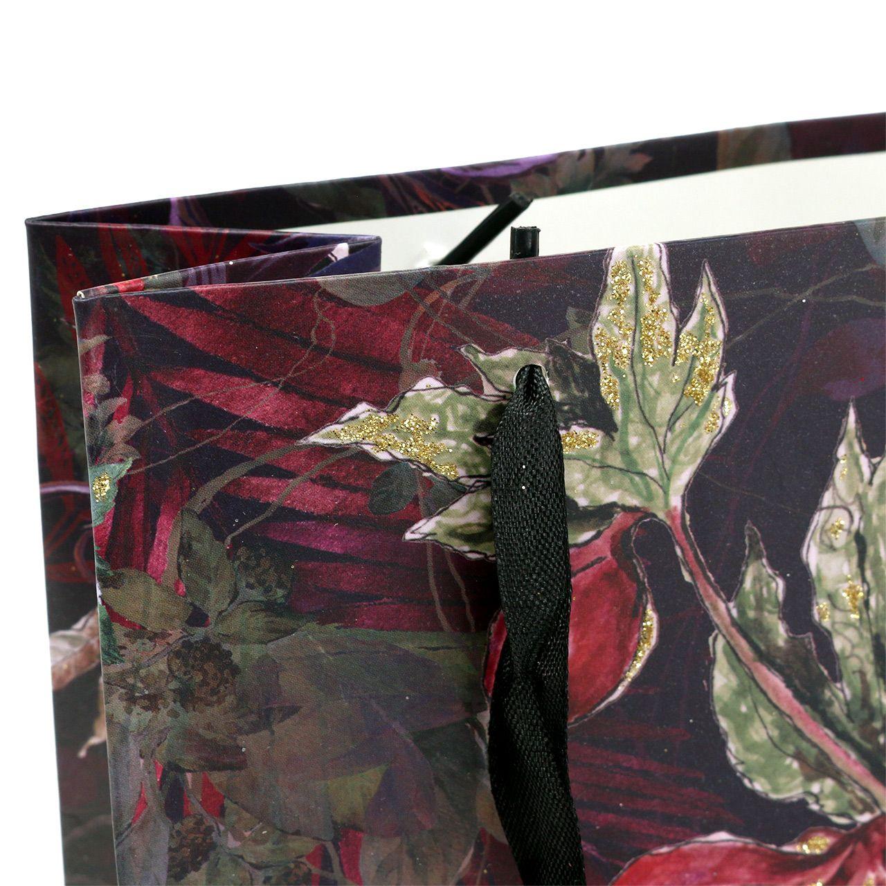 Gavepose blomster gull 18cm x 8cm H24cm