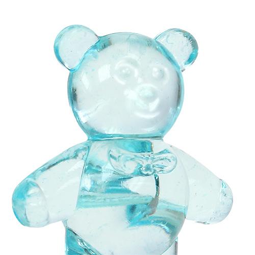 Borddekorasjon til fødselsbjørnen blå 3,5 cm 60p