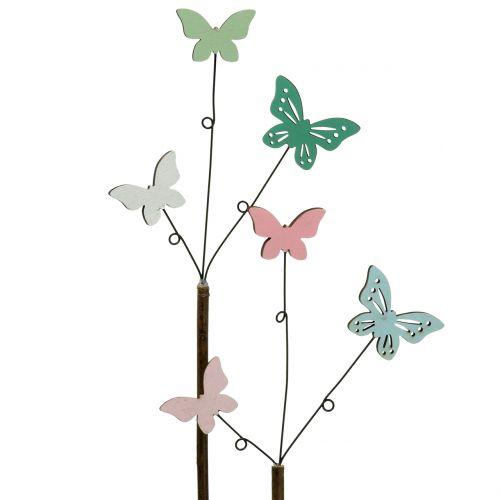 Dekorativ plugg sommerfugl H43cm 6stk