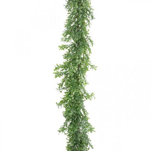 Kunstig plantekrans, buksbomstank, dekorativ grønn L125cm