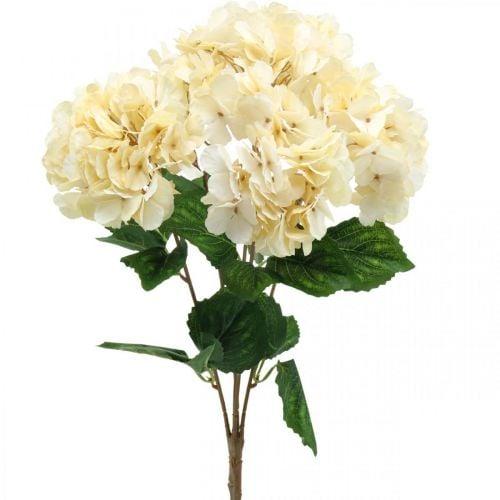 Hortensia bukett kunstige blomster gule 5 blomster 48cm