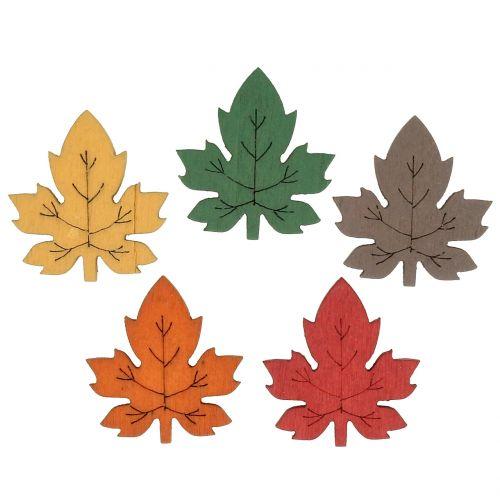 Fargerikt lønneblad for dryssing 3,5 cm 72stk