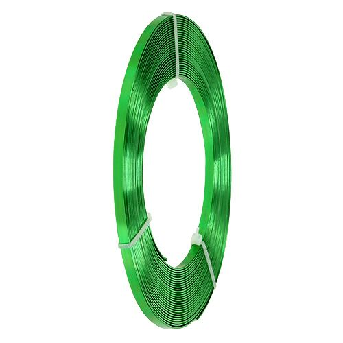 Aluminium flat wire eplegrønn 5mm 10m
