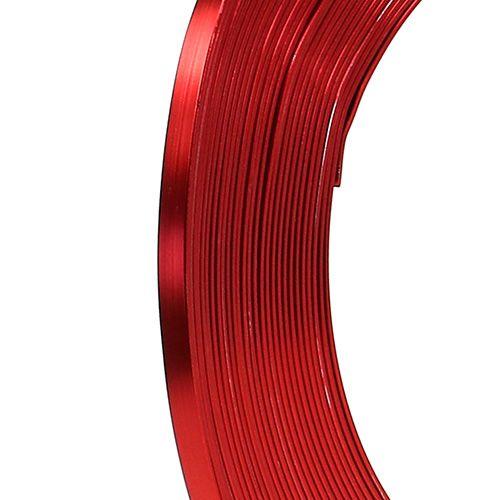 Aluminium flat wire rød 5mm 10m