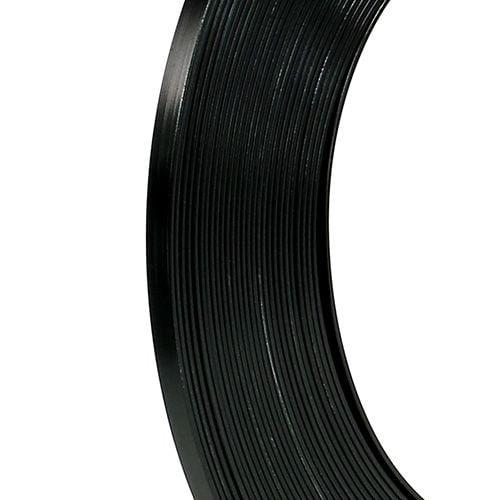 Flattråd av aluminium svart 5mm 10m