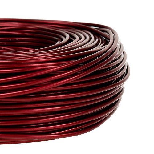 Aluminiumstråd Ø2mm 500g 60m Bordeaux
