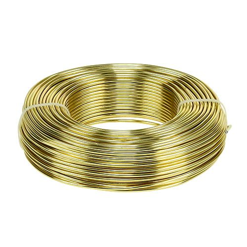 Aluminiumstråd Ø2mm 500g 60m gull
