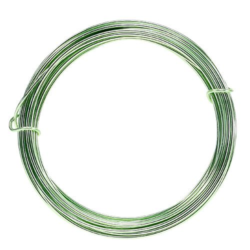 Aluminiumtråd 2mm 100g mintgrønn