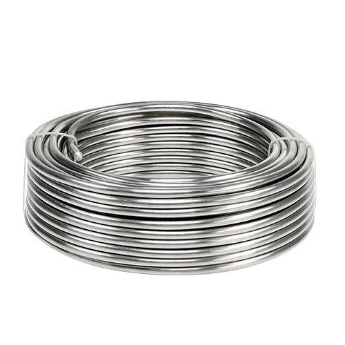 Aluminiumstråd 5mm 1kg sølv