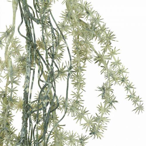 Kunstig asparges kranshvit, grå dekorasjonshenger 170cm