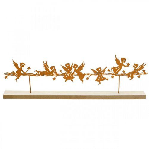 Borddekorasjon Juleengel metallstativ rist 50 × 17cm