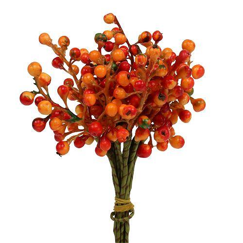 Haug med bær oransje L20cm