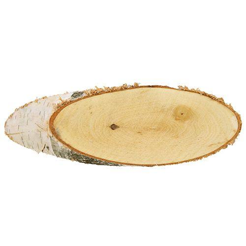 Bjørkeskiver ovale naturlige 10stk