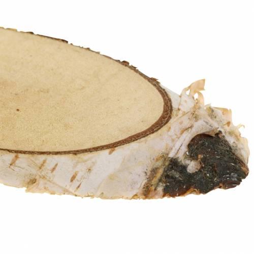 Bjørkeskiver ovale naturlige 4 × 8cm 1kg til dekorasjon