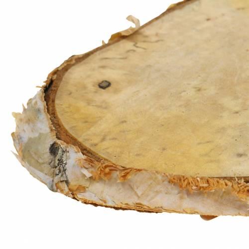 Treplater bjørk ovale naturlige 7,5 × 13cm 1kg