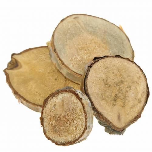 Birkeskiver runde naturlige 5cm 1kg til dekorasjon med bark