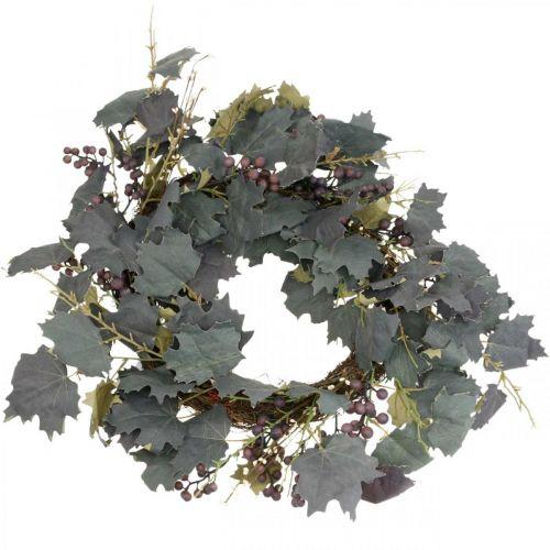 Dekorative kransblader og druer Høstkrans vinranker Ø60cm