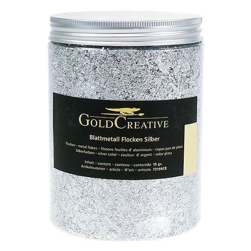 Bladmetallflak sølv 15g