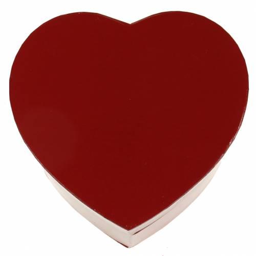Blomsterkasse hjerte rød 14 / 16cm sett med 2