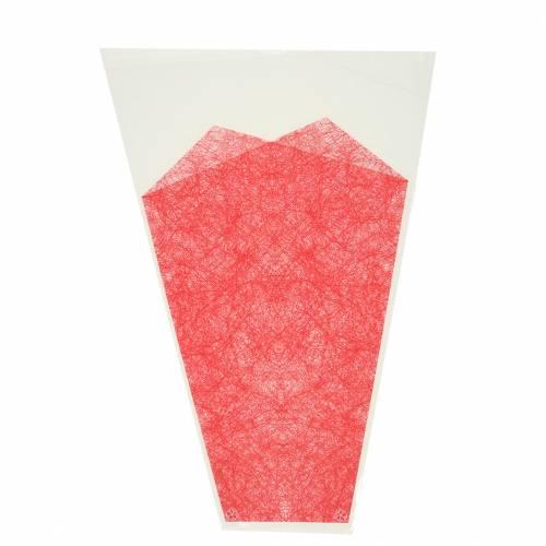 Blomstersekk jute rød L36cm B25cm - 12cm 50p