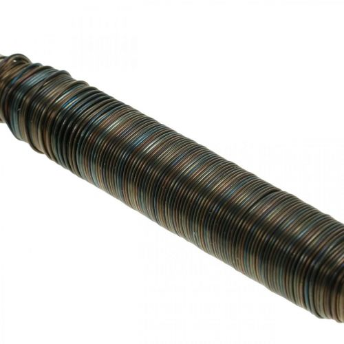 Blomst innpakningstråd blå glødet 0,65 mm 100 g
