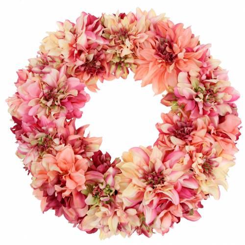 Dahlia blossom krans rosa, krem Ø42cm