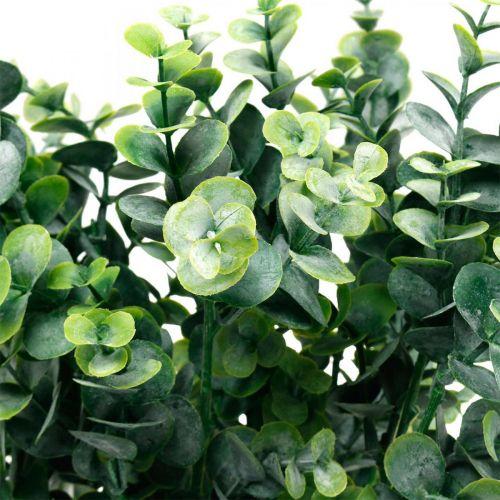 Dekorativ eukalyptus gren mørk grønn Kunstig eukalyptus Kunstige grønne planter 6stk