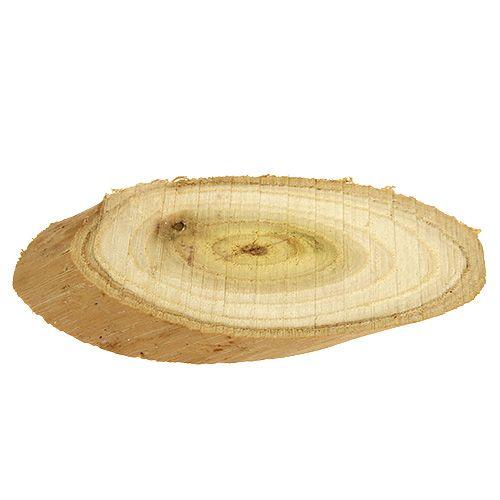Dekorative skiver laget av tre ovale 9-12cm 500g
