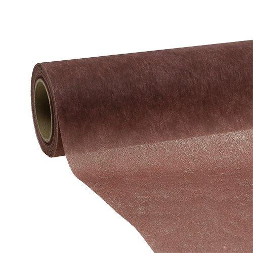 Dekorativ fleece 60cm x 20m brun