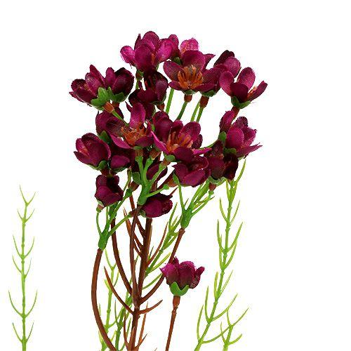 Dekorativ gren med blomster Erika 80cm 3stk