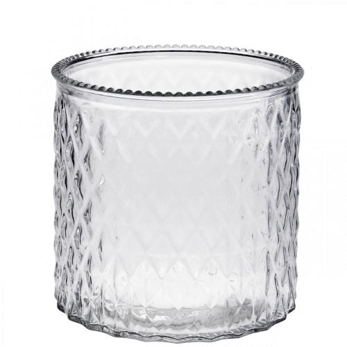 Dekorativ glasslykt Ø12cm H12,5cm