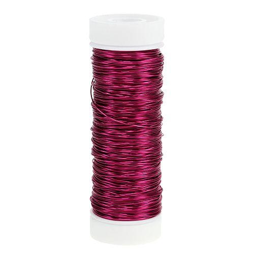 Dekorativ lakkwire Ø0.30mm 30g / 50m rosa