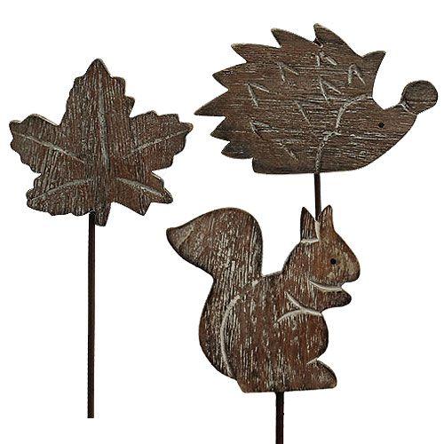 Blomsterplugg 5cm - 6cm høstmotiver 12stk