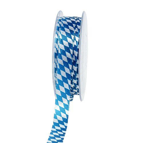 Deko bånd blå-hvit 15mm 20m