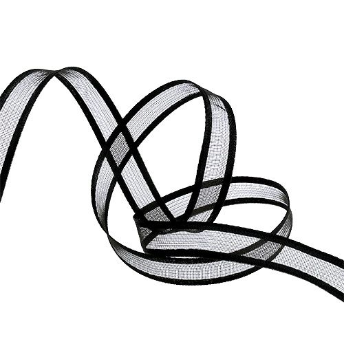 Dekorativt bånd svart 15cm 25m