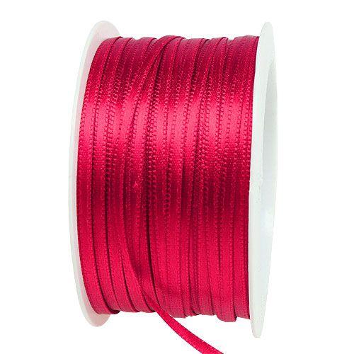 Gave- og dekorasjonsbånd 3mm x 50m rosa